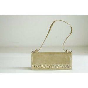 Vintage Stuart Weitzman Nude Patent Leather Bag